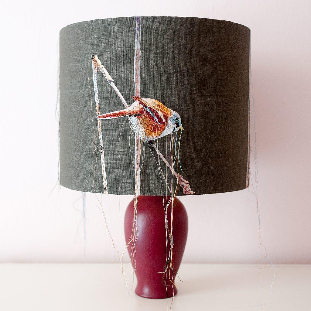 Lampenschirm, gestickt auf Foto